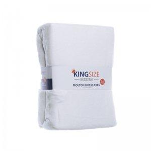 2-PACK Kingsize Molton Hoeslakens - Wit - 180 x 200