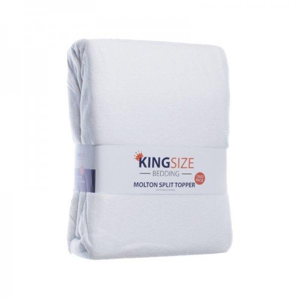 2-PACK Kingsize Molton Splittopper Hoeslakens - 160 x 200