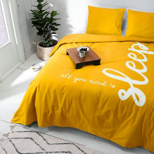 All You Need Is Sleep - Geel - 140 x 240