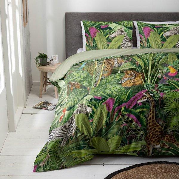 Animal Jungle - Groen - 140 x 220