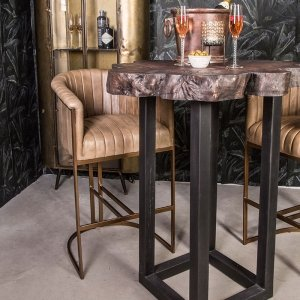 Barkruk Bree - Cognac - Bruin