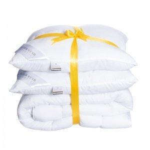 Beddengoed pakket: 2 Hoofdkussens + All Season Dekbed - 200 x 200 cm - Wit