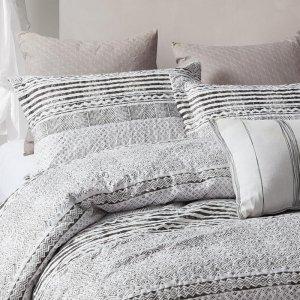 Bedsprei Elegant Stripe - Grijs - 150 x 250