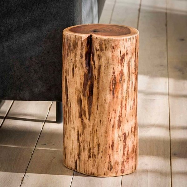 Bijzettafel Boomstam - 30 cm - Bruin