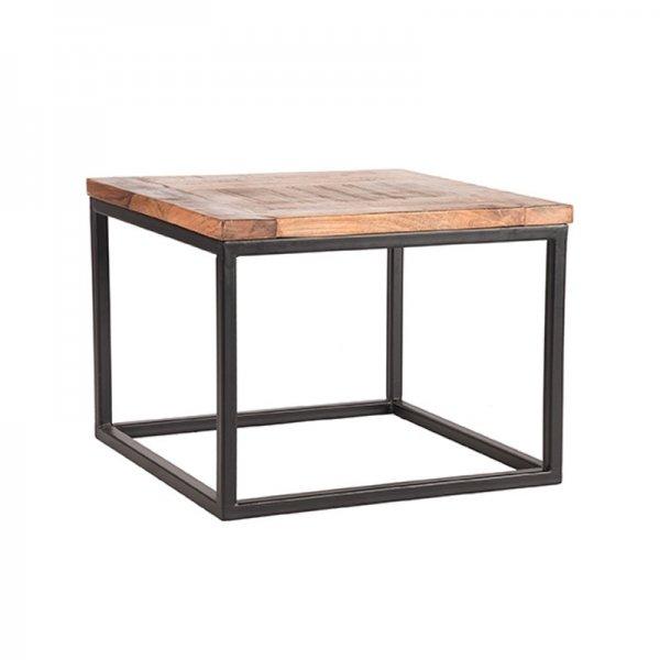 Bijzettafel Box - 60x60 cm - Bruin