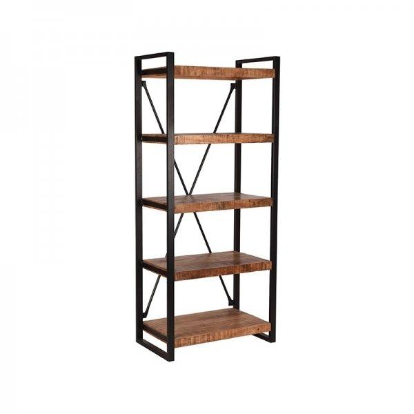 Boekenkast Brussels - 80x185 cm - Bruin