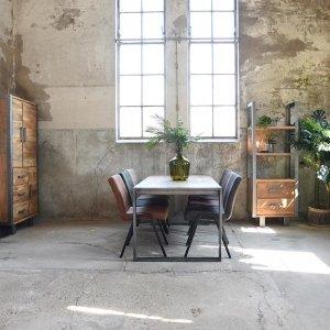 Boekenkast Factory - 68x185 cm - Bruin
