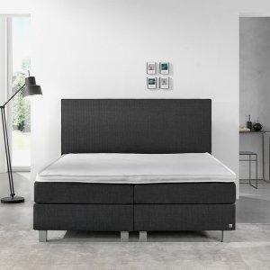 Boxspringset - Cassidy Comfort - Antraciet - 140 x 200