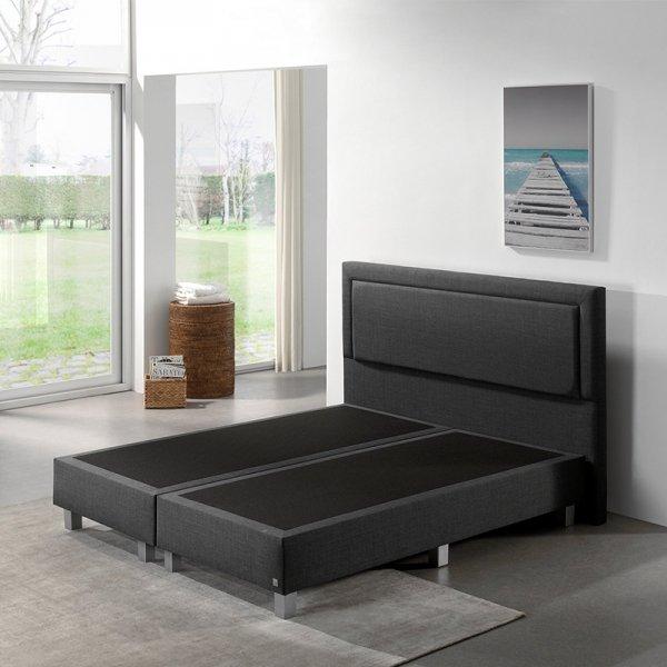 Boxspringset - Kello Comfort - Antraciet - 140 x 200