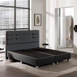 Boxspringset New York - Comfort - Antraciet - 140 x 200