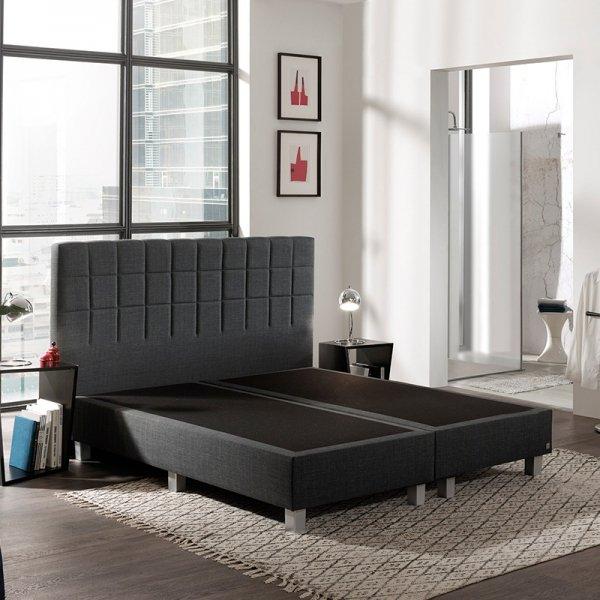 Boxspringset - Romano Comfort - Antraciet - 160 x 200