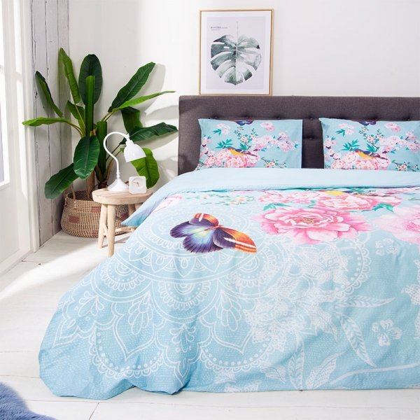 Butterfly Rose - Blauw - 240 x 220