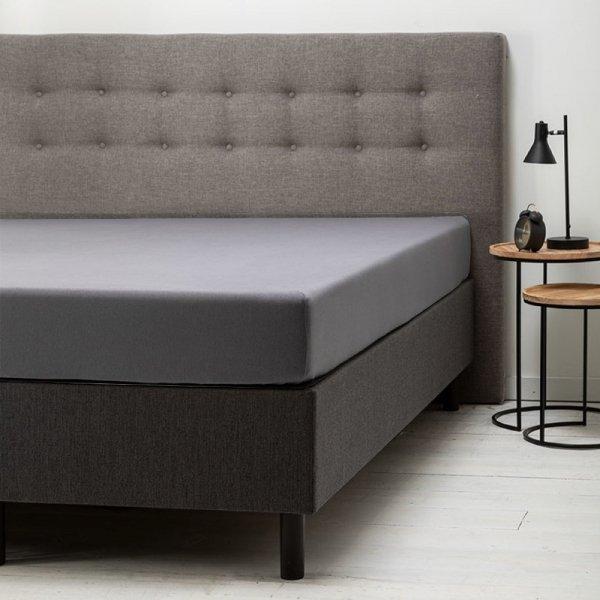 Comfort Hoeslaken Jersey - Donkergrijs - Antraciet - 140 x 200