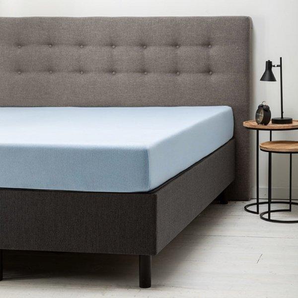 Comfort Hoeslaken Jersey - Lichtblauw - Blauw - 200 x 200