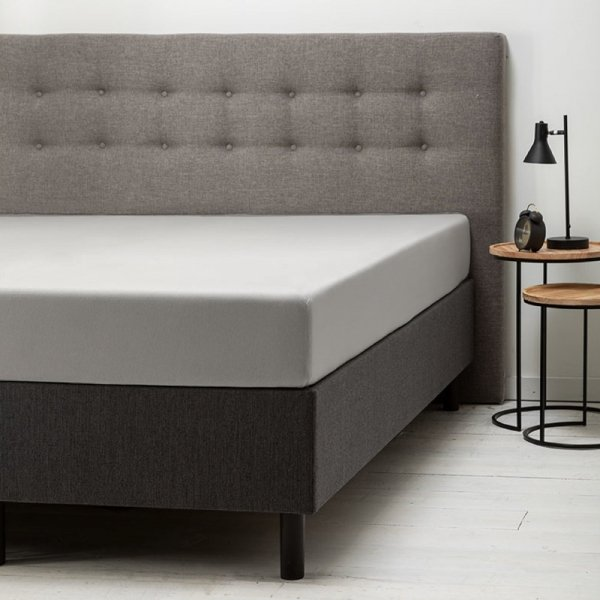 Comfort Hoeslaken Jersey - Lichtgrijs - Grijs - 90 x 200