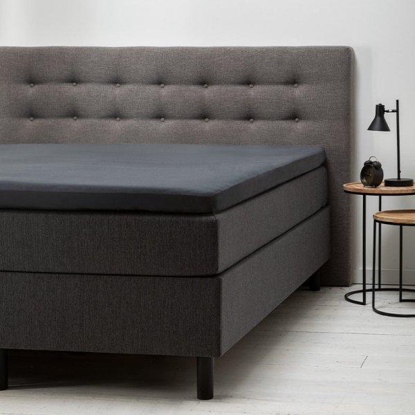 Comfort Topper Hoeslaken Jersey - Antraciet - 120 x 200