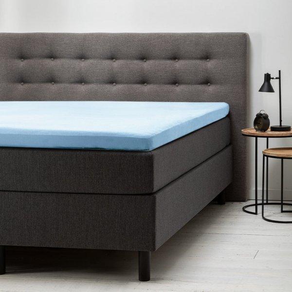 Comfort Topper Hoeslaken Jersey - Blauw - 140 x 200