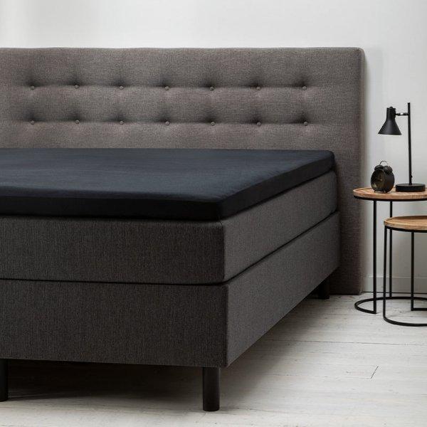 Comfort Topper Hoeslaken Jersey - Zwart - 90 x 200
