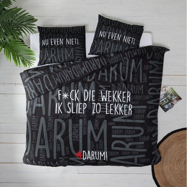 #DARUM! F*ck die wekker! - Zwart - 140 x 220
