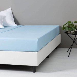 DD Katoenen Hoeslaken - Blauw - 160 x 200