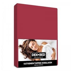 DD Katoenen Topper Hoeslaken - Bordeaux - 80 x 200