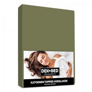 DD Katoenen Topper Hoeslaken - Groen - 80 x 200