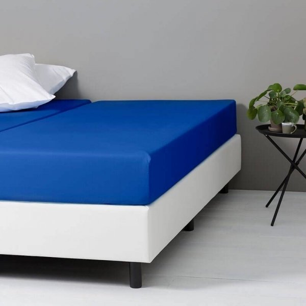 DD Verkoelend Katoenen Hoeslaken - Royal Blauw - 80 x 200
