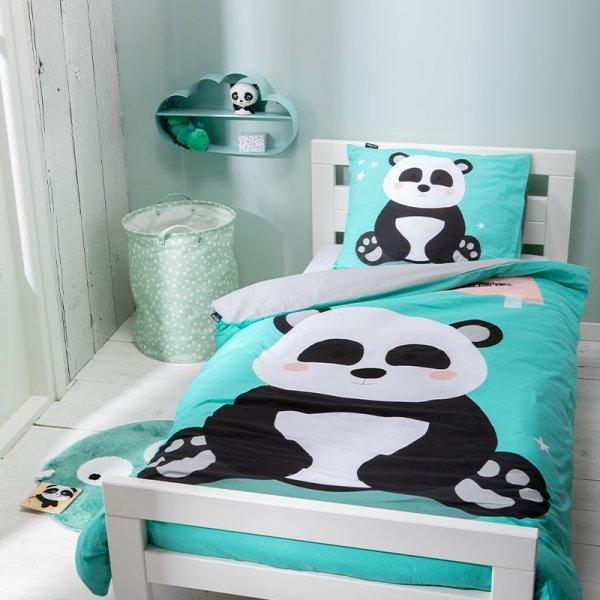 Dekbedovertrek Cute Panda - Blauw