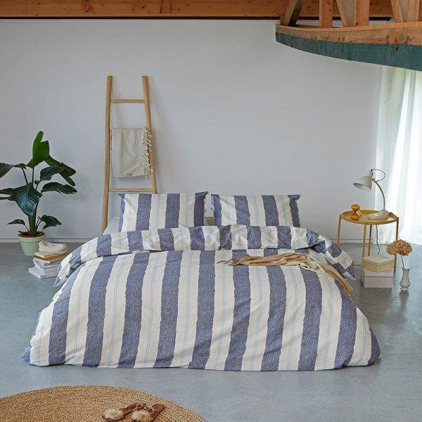 Dekbedovertrek Remade Nautic Stripes - Blauw - 140 x 200