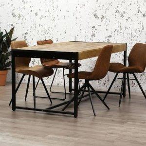 Eetkamertafel Industrial - Bruin