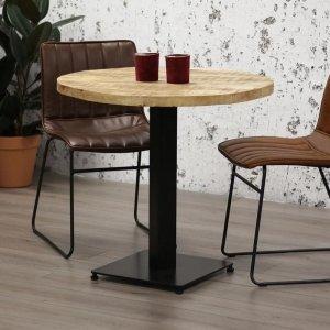 Eetkamertafel Industry - Rond - Bruin - 80 x 80