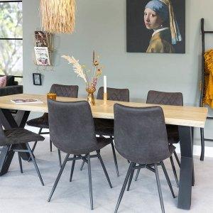 Eetkamertafel Kaapstad - Bruin