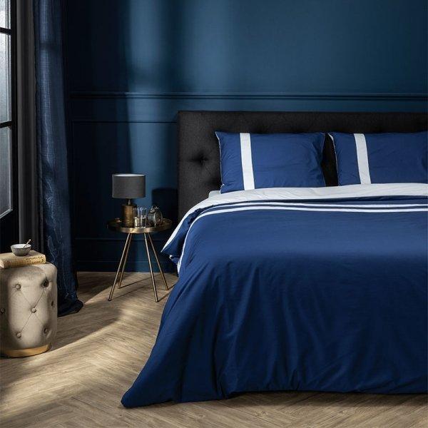 Egyptisch Katoen Streep - Marine/Wit - Blauw - 140 x 200