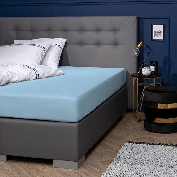 Egyptisch Katoenen Jersey Hoeslaken - Blauw - 160 x 200