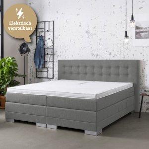 Elektrische Boxspringset - Thor - Lounge - Antraciet - 140 x 200