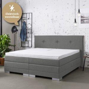 Elektrische Boxspringset - Thor - Trendy - Antraciet - 140 x 200