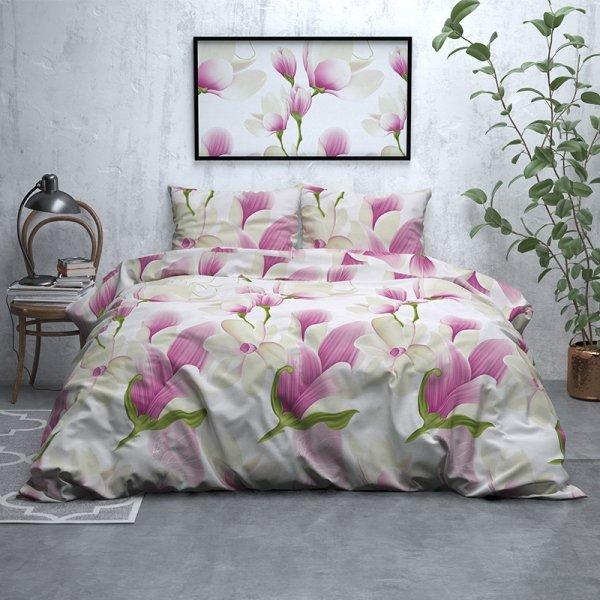 Flower Power - Verwarmend Flanel - Wit - 200 x 200