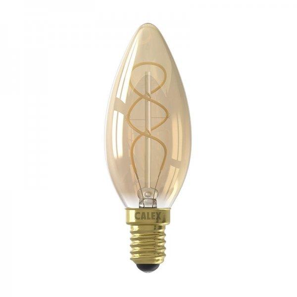 Full Glass Flex Filament Candle-lamp Goud - LED Lamp