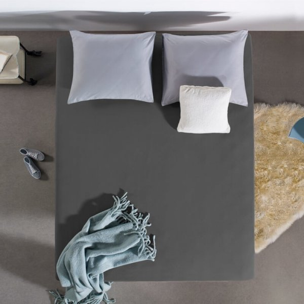 HC Dubbel Jersey Hoeslaken - Antraciet - 100 x 200