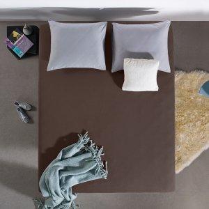 HC Dubbel Jersey Hoeslaken - Deep Taupe - 100 x 200
