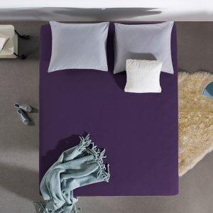 HC Dubbel Jersey Hoeslaken - Paars - 100 x 200