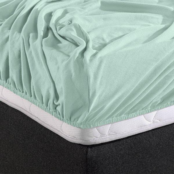 HC Dubbel Jersey Hoeslaken - Pastel Blauw - 180 x 200
