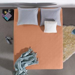 HC Dubbel Jersey Hoeslaken - Pastel Oranje - 100 x 200