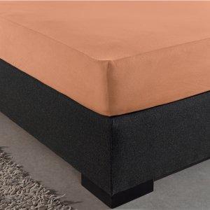 HC Dubbel Jersey Hoeslaken - Pastel Oranje - 140 x 200