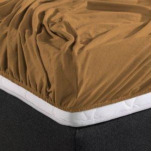 HC Dubbel Jersey Hoeslaken - Taupe - 180 x 200