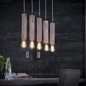 Hanglamp Aberdeen - 5 Lichts - Bruin