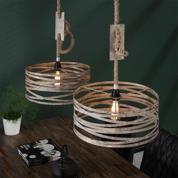 Hanglamp Bilbao - Dubbel - Grijs
