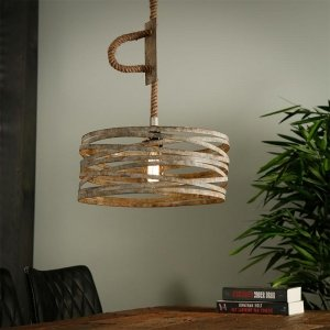 Hanglamp Bilbao - Enkel - Grijs