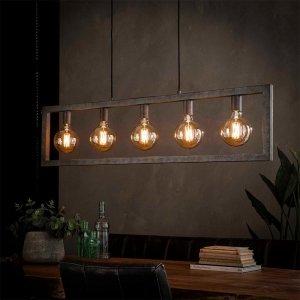 Hanglamp Birk - 5 Lichts - Grijs