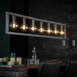 Hanglamp Birk - 7 Lichts - Grijs